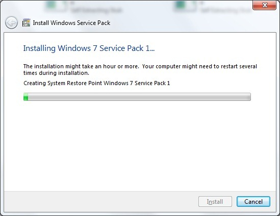 windows 07 service pack 1