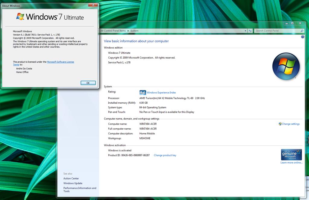 Windows 7 Ultimate Sp2 - фото 2