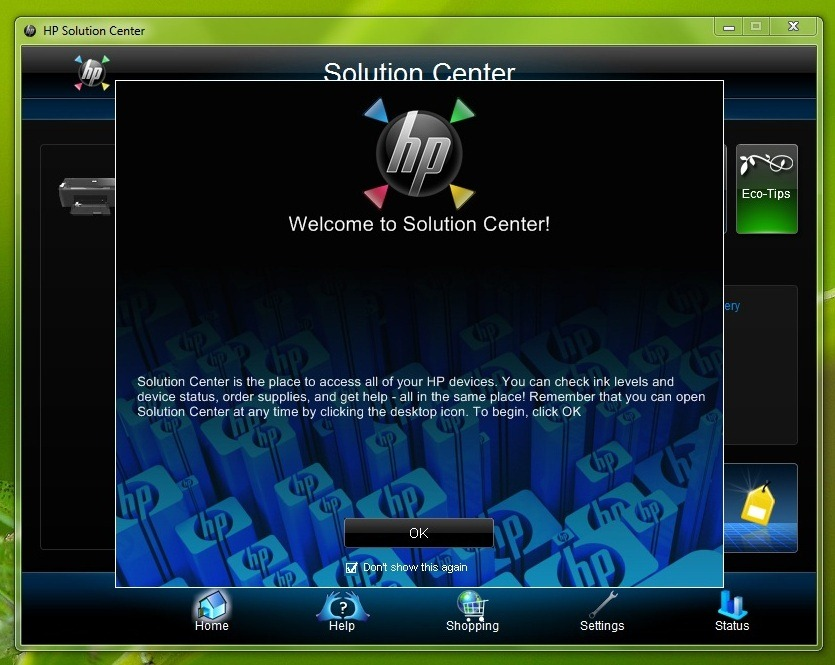 Solved: solution center not working for win 7 hp support.