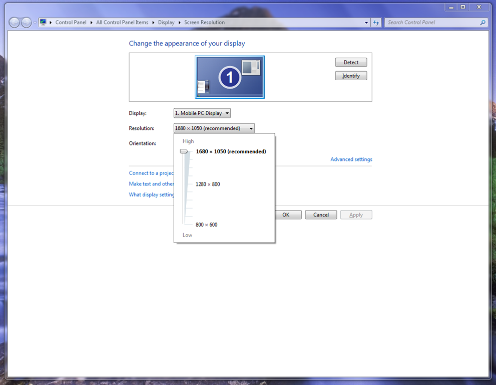 Click In The Resolution List Box And Take Note Of Maximum Supported By Your Display You Might Need To Write This Down