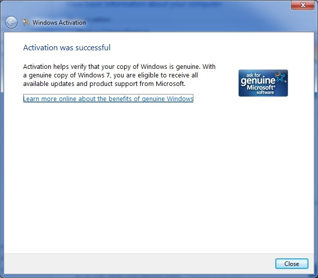 activate windows 7 professional oem key