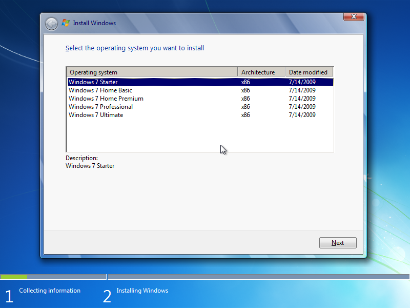Windows 7 Home Premium x64