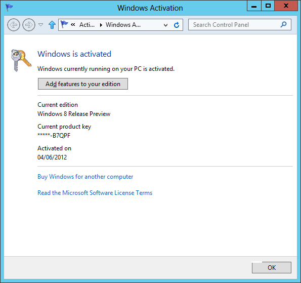 activate windows 8 pro build 9200
