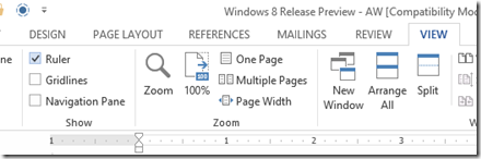 microsoft word how to clear ruler marks