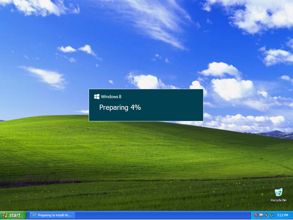 How To Upgrade From Windows Xp To Windows 8 Teching It