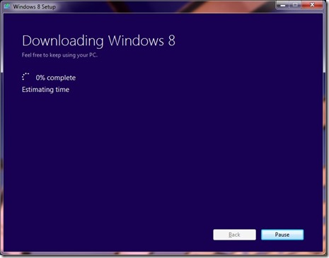 Downloading Windows