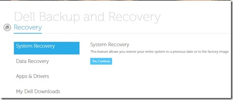 Recovery dell 4