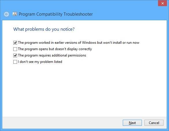 troubleshoot compatibility windows 8.1