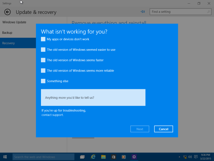 Revert Windows  Pro Back To Home